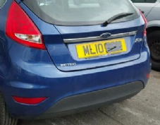 FORD FIESTA  MK 8  REAR  TAILGATE    BLUE   2009 2010 2011  USED
